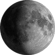 Вощащая луна Gibbous